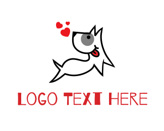 Dog Trainer - Happy Love Dog logo design