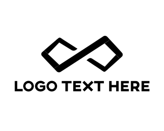 Trendy - Black Infinity logo design