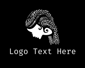 Hairstyle - Braid Hairstyle logo design