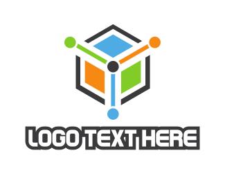 Dice - Colorful Cube Gaming logo design