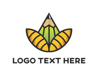 Petals - Pencil Flower logo design