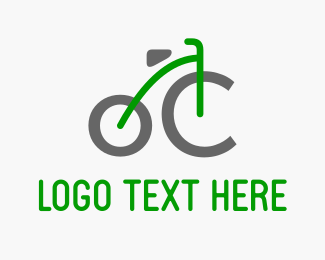 Cycle - Green Bicycle logo design