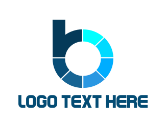 Photography - Blue Modern Letter B logo design