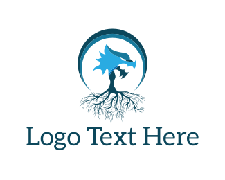 Medieval - Dragon Tree logo design