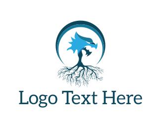 Falcon - Dragon Tree logo design