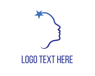 Adoption - Star Face logo design