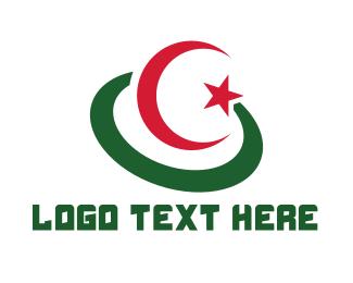 Algeria - Modern Algeria Flag logo design