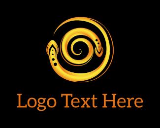 Finance - Yellow Snake Swirl logo design