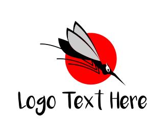 Virus - Black Mosquito logo design