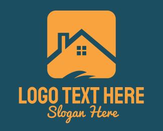 Cottage - Orange Roof logo design