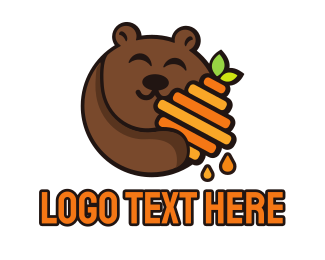 Bear - Honey Bear logo design
