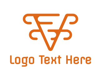 Accountancy - Modern Orange V logo design