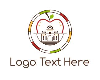 Temple - Apple Palace logo design