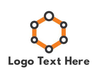 Connection - Hive Link logo design
