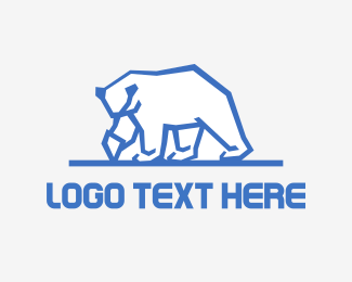 Skiing - Iceberg Bear logo design