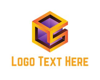 Frame - S Cube logo design