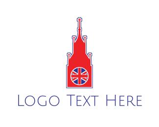 English - Big Ben London logo design