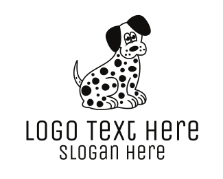 Walk - Dalmatian Dog logo design