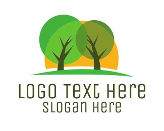Park - Park & Sunset logo design