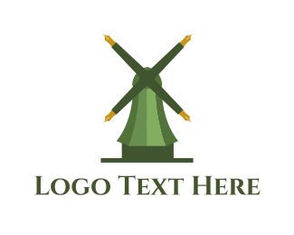 Teach - Educational Mill logo design