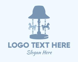 Playground - Carousel Lamp logo design