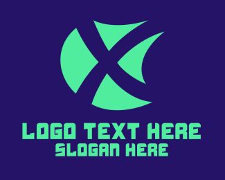 Letter X - X Shield logo design