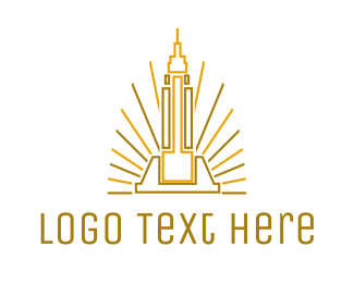 Destination - Tower Outline logo design
