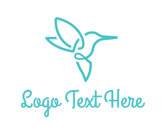 Blue Hummingbird Logo Maker