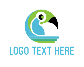 Toucan - Tropical Parrot logo design