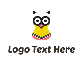 Graduate - Pencil Owl logo design