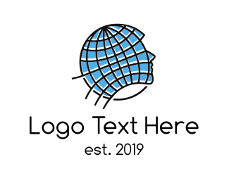 World - Global Thinking logo design