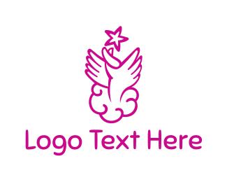 Celebrant - Heaven Hands logo design
