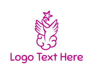 Celebrant - Heaven Hands logo design