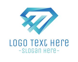 Diamond - Modern Blue Diamond logo design
