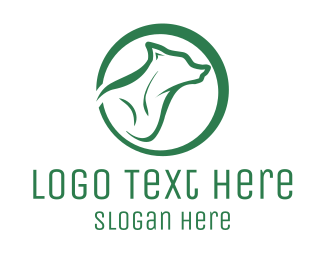 Outlines - Green Wolf logo design