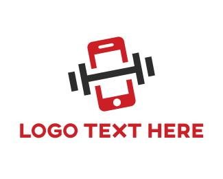Workout - App Gym logo design