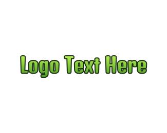 Teenager - Green Gradient Text logo design