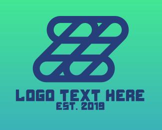 Tablet - Blue Grid Z logo design