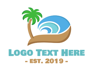 Hawaiian - Wave Beach logo design