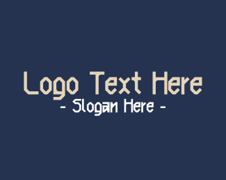 Twitch - Nordic Clan Text Font logo design