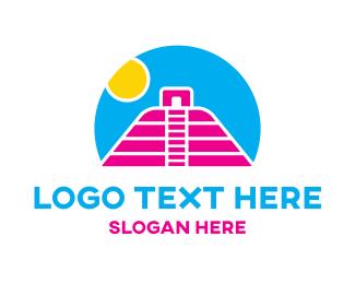Mayan - Mayan Sunset logo design