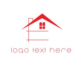 Rent - Red House logo design