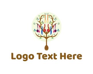 Chef - Kitchen Tree logo design