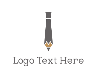 Crayon - Pencil Tie logo design