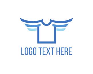 T-shirt - Flying Shirt logo design