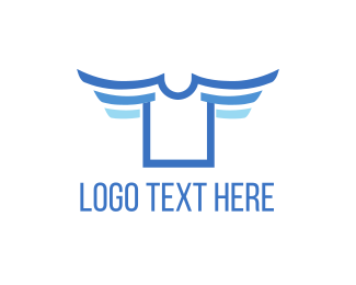 Shirt - Flying Shirt logo design