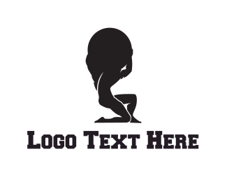Hard - Strong Man logo design
