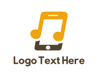 Music - Music Phone logo design