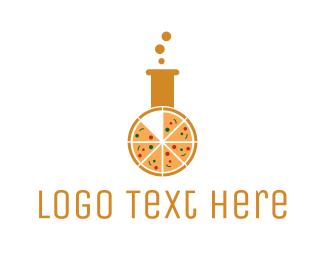 Pizza - Pizza Laboratory logo design