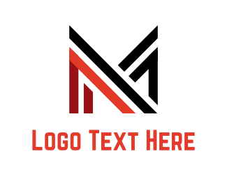 Construction - Abstract Letter M logo design